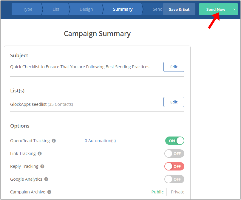 Test ActiveCampaign email deliverability