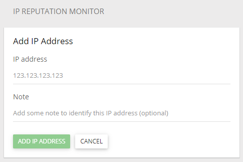 Add IP to Reputation Monitor