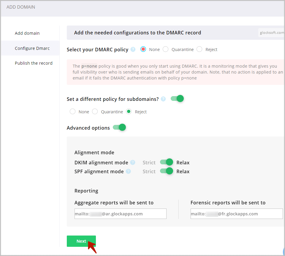domain alignment